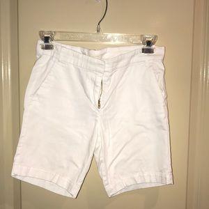 Girls white Jcrew Bermuda shorts